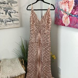 Windsor Rose Gold Sequin Dress Size 1X NWT